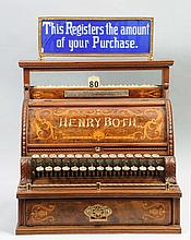 Early Wooden National Cash Register.