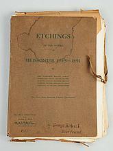 Folio of Etchings of Meissonier's Works.