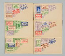 Set of 6: F.A. Busch Pan-Am Exposition Postcards.