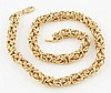 14K YG Large Link Necklace.