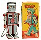 Tin Litho Wind-Up Mechanical Robot.