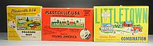 Lot of 5: Boxes Of Plasticville Sets.