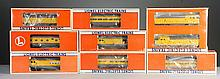 Lot of 9: Lionel Union Pacific Cars