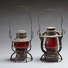 One Erie & One NYC Marked Lanterns.
