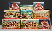 Lot of 9: Plasticville Toy House Kit.