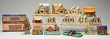 Plasticville Houses, Compo Houses & Other Items.