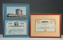 Two Framed Train Certificates & Posters.