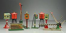 Assortment of American Flyer Pre-war Accessories.