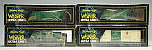 Lot of 4: Contemporary Weaver Train Freight Cars.