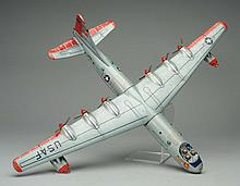 Tin Litho Friction B-36 Corvair Airplane.