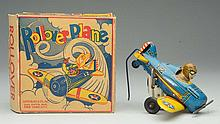 Tin Litho Marx Wind-Up Rollover Airplane.