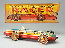 Tin Litho Marx Super Streamline Racer.