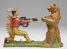 J&E; Stevens Indian & Bear Mechanical Bank.