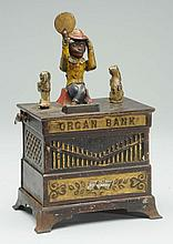 Cast Iron Mechanical Organ Bank.