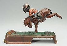 J. & E. Stevens Mule & Jockey Mechanical Bank.