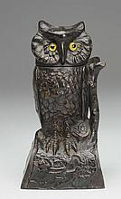 J&E; Stevens Owl Turns Head Mechanical Back.