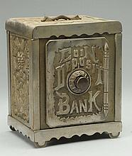 Cast Iron Oversized Coin Deposit Safe Bank.