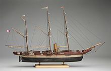 Scale Model S.S. Alabama Confederate Ship.