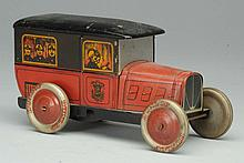 Tin Litho Fire Department Vehicle.