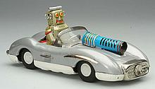 Tin Litho Friction Robot Car.