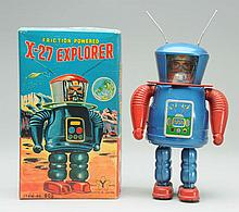 Tin Litho X-27 Explorer Robot.