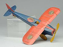 Girard Toys Tin Wind-Up Airplane.