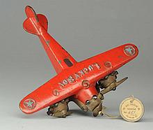 Cast Iron Dent Lucky Boy Airplane.