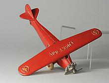 Cast Iron Dent Lucky Boy Single Motor Airplane.