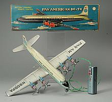 Japanese Tin Litho Pan American Airplane Toy.