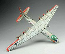 Japanese Tin Corvair USAF B-36 Airplane.