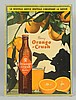 1940s French Canadian Orange Crush Cardboard.