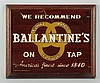 Ballentine's Reverse On Glass Sign.