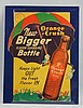 1930s-40s Orange Crush Cardboard Cutout.