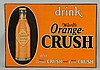 1920s Orange Crush Embossed Tin Sign.