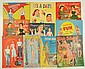 Lot of 10: Teenager Theme Paper Doll Sets.
