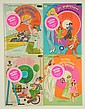 Lot of 4: Paper Doll Books with Records.