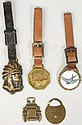 Lot of 5: Watch Fobs.