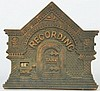 Cast Iron Recording Registering Bank Still Bank.