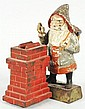 Santa At Chimney Mechanical Bank.