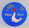 Carstairs White Seal Whiskey Glass Sign.