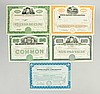 Lot of 5: Auto Related Stock Certificates.