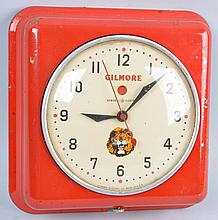 Small Gilmore with Logo Electric Clock.