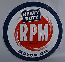 RPM Motor Oil Sign.