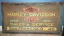 Harley Davidson Motorcycle Sales & Service Sign.