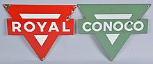 Lot of 2: Royal & Conoco Signs.