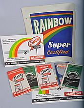 Group of Rainbow Gasoline Paper Items.