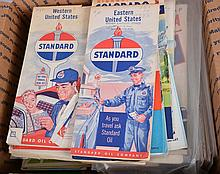 Lot of 75 Plus: Gasoline Company Road Maps.