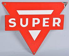 Conoco Super Die Cut Sign.