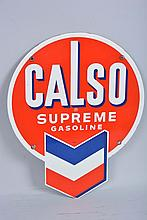 Calso Supreme Gasoline Sign.