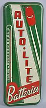 Autolite Batteries with Car Tin Thermometer Sign.